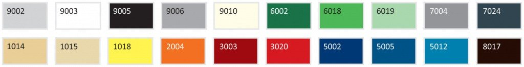 Стандартные цвета для сэндвич панелей