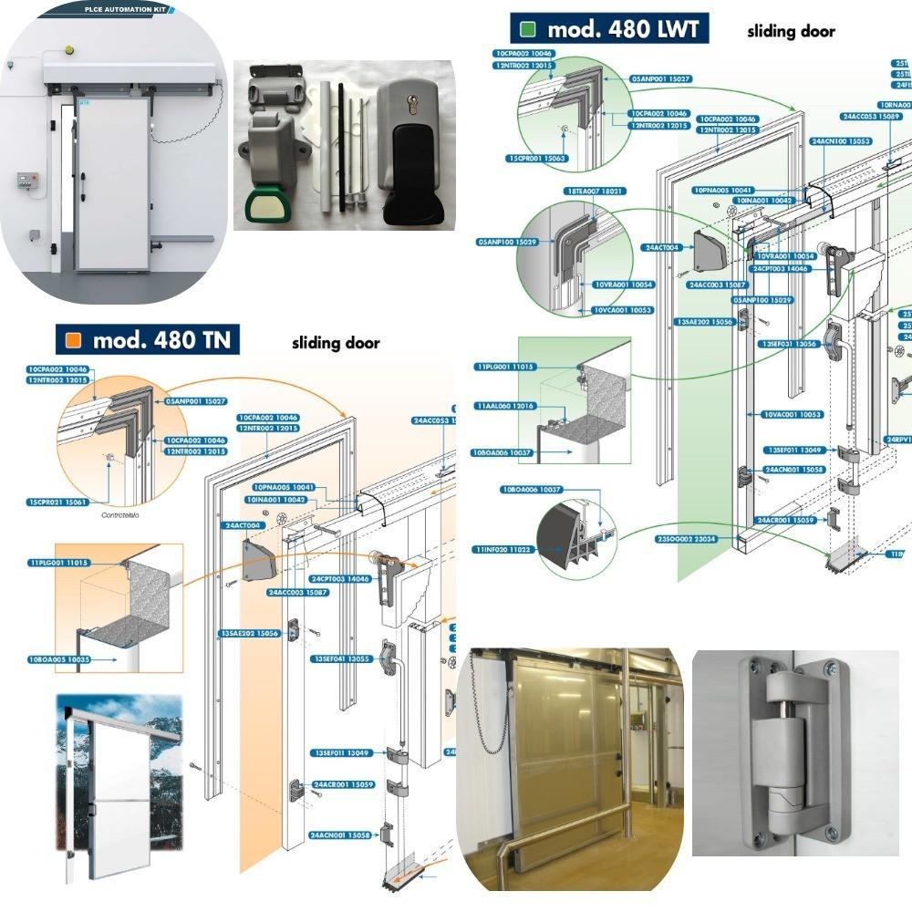 Двери и фурнитура для холодильной камеры